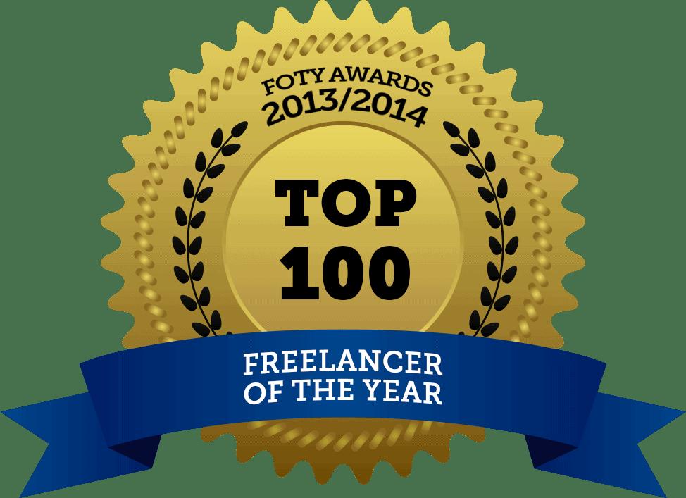 Freelancer of the Year Award badge 2013 2014 copy